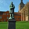 Odense, Dania, Pomnik pana Andersena w parku przy Katedrze