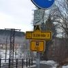 Niemieckie i czeskie oznaczenia ścieżek rowerowych