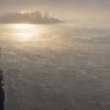 Jenisej o wschodzie słońca