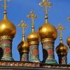 Sobór Wierchospaski - kopuły na dachu, Kreml, Moskwa