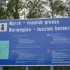 Tablica informacyjna o granicy norwesko-rosyjskiej