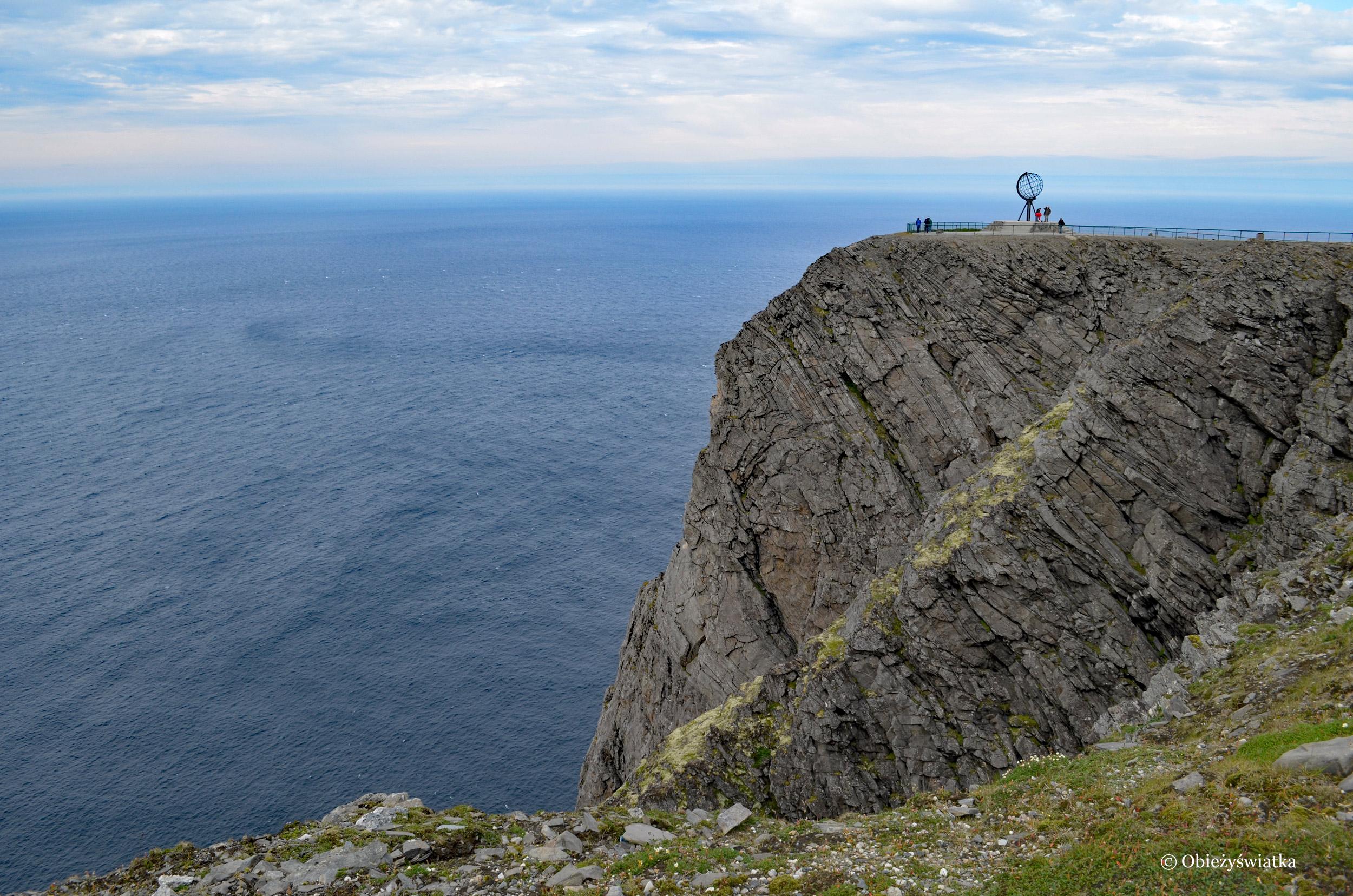 Globus na skale Przylądka Północnego, Nordkapp, Norwegia