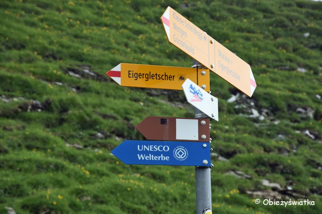 Drogowskazy Eiger Walk