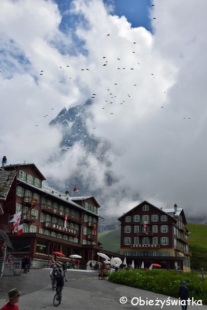 Eigerwand/ Nordwand Ściana Śmierci we mgle