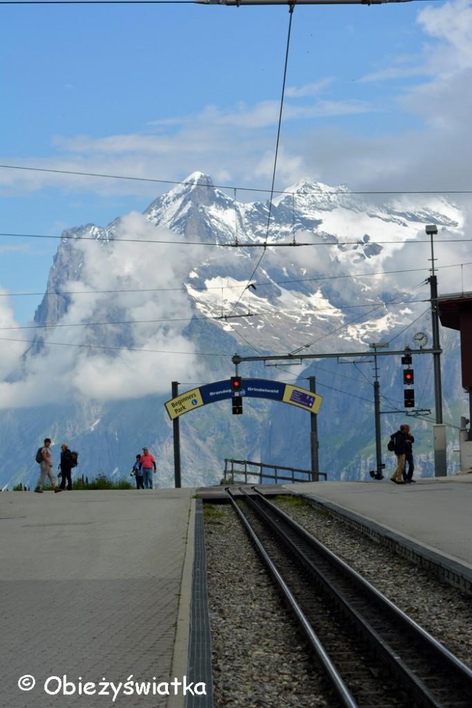 Stacja kolejowa na Przełęczy Kleine Scheidegg 2061 m n.p.m.