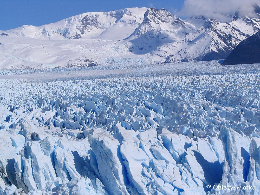 Biało-błękitny Lodowiec Perito Moreno