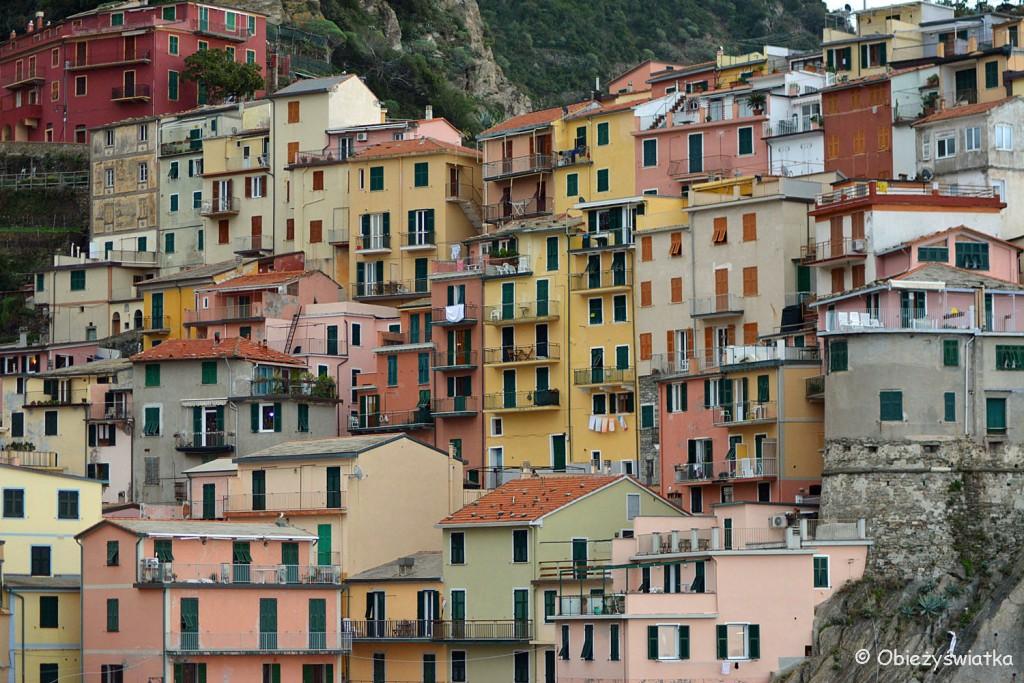 Kolorowe domy w Manaroli, Cinque Terre