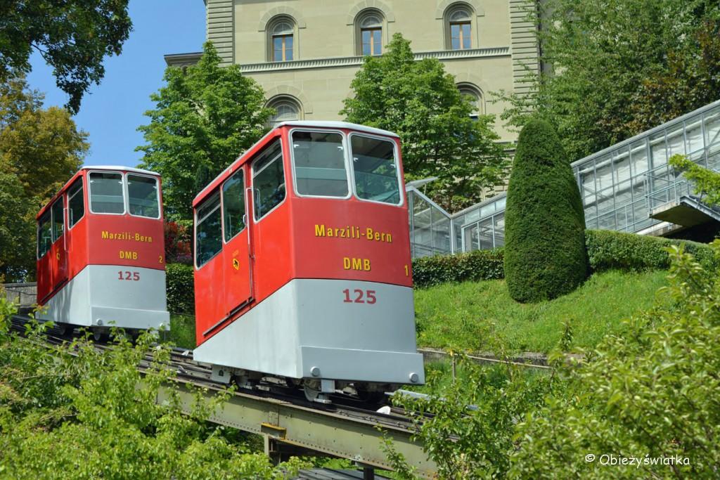 Marzilibahn w Bernie- widok z dzielnicy Marzili
