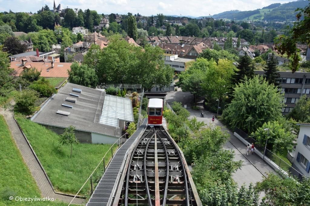 Marzilibahn w Bernie - widok ze Starego Miasta