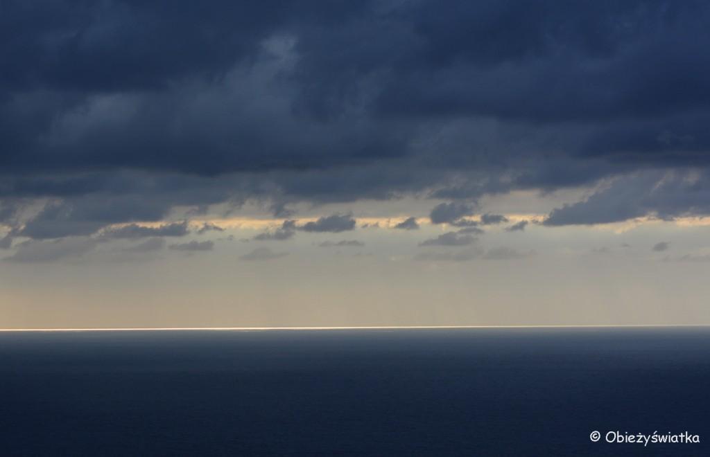 Morze Śródziemne, widok z Manaroli, Cinque Terre