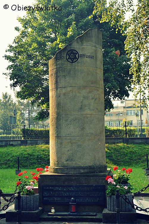 Pomnik na cmentarzu żydowskim w Tarnowie