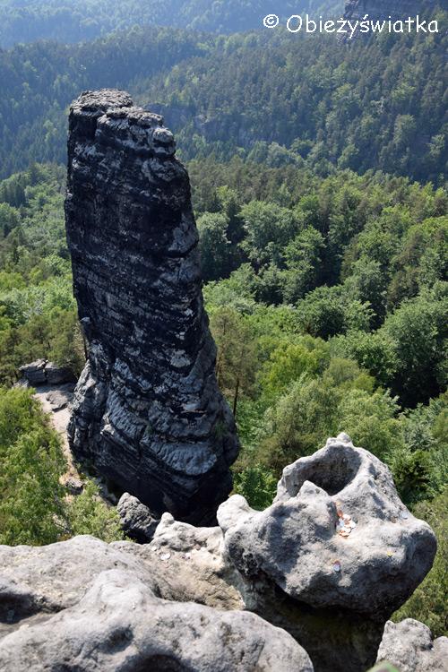 W okolicach Bramy Pravčickiej - Mały Pravčicki Stożek