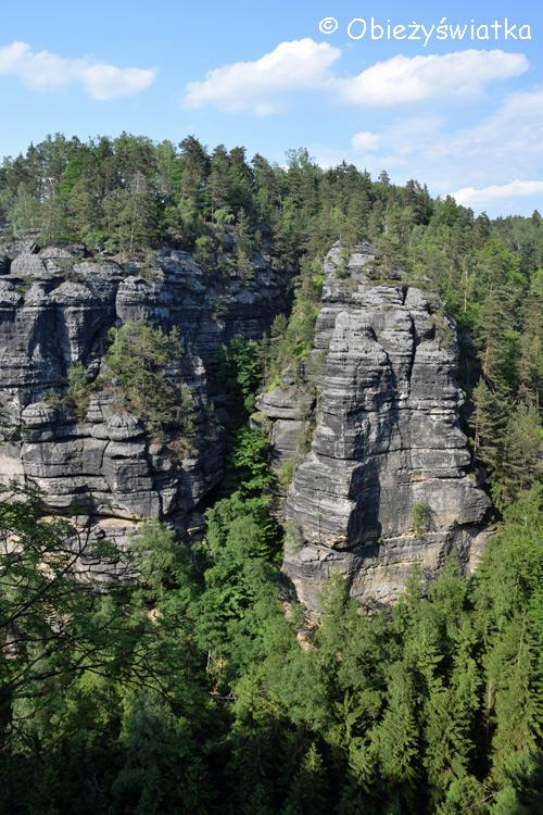 W Parku Narodowym Czeska Szwajcaria w Górach Połabskich