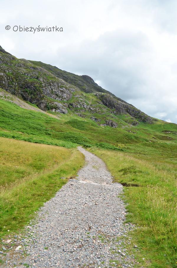Na szlaku - Glen Coe, Highlands, Szkocja