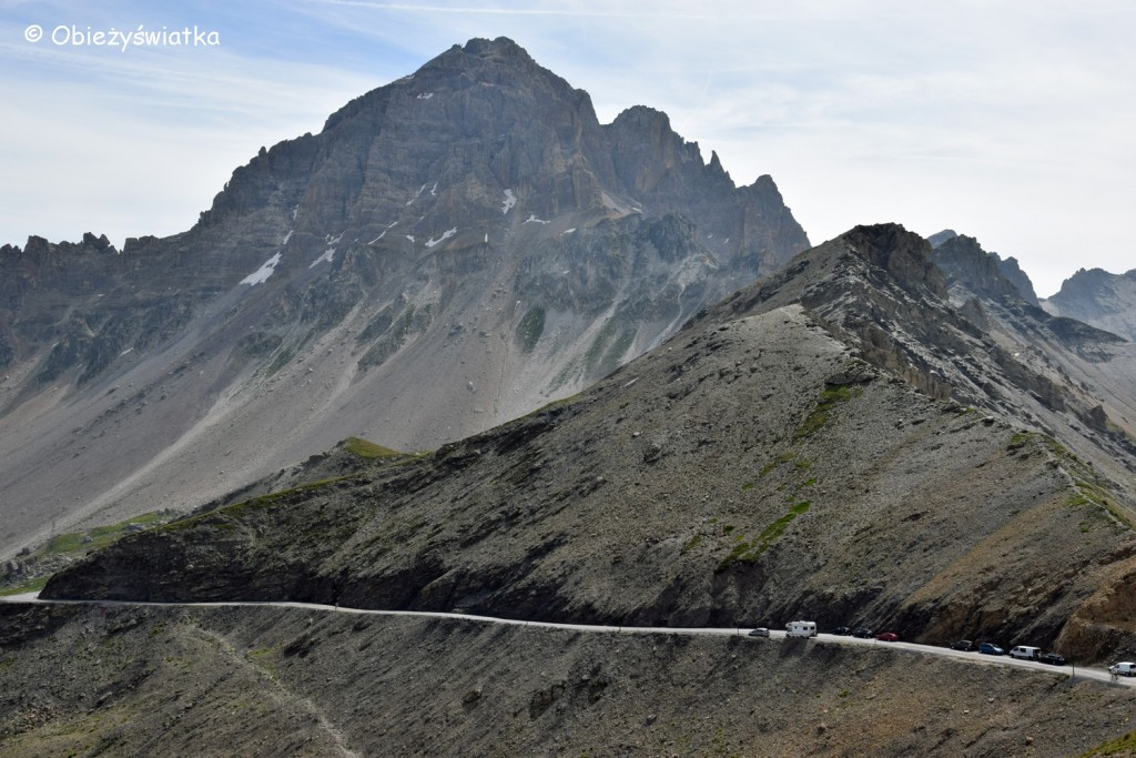 Le Grand Galibier - 3242 m n.p.m., widok z Col du Galibier