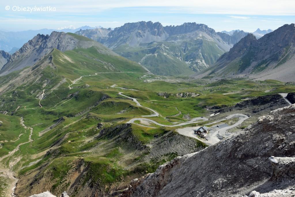 Panorama z Col du Galibier, Alpy, Francja