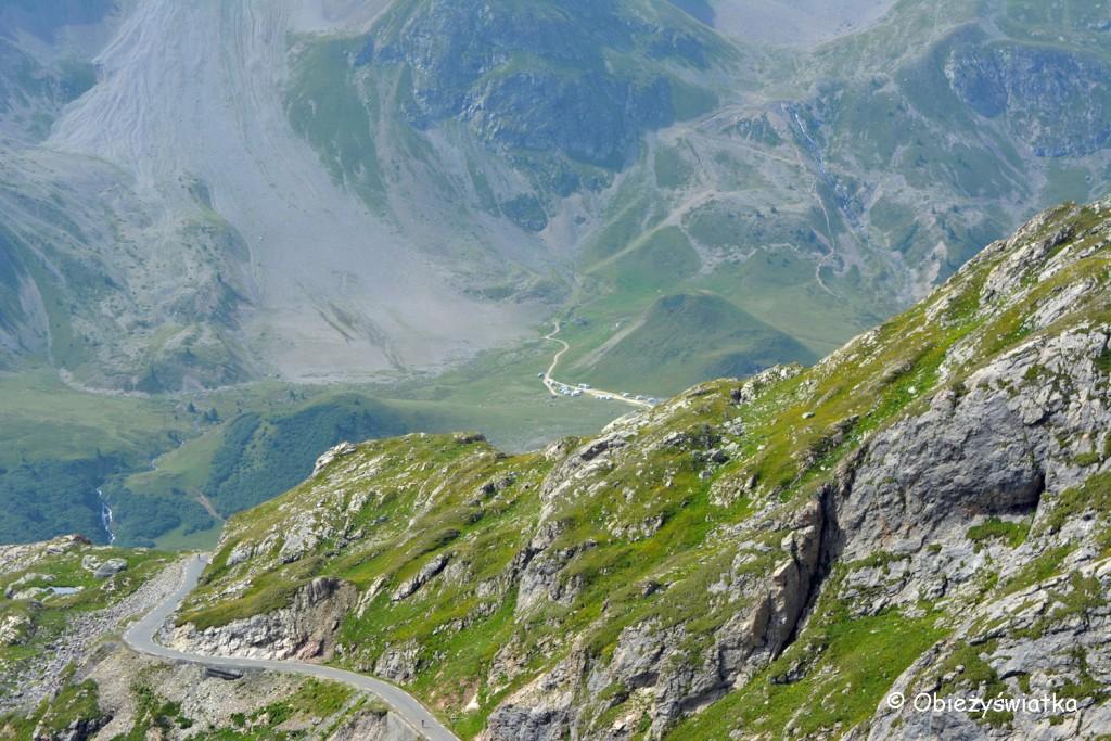 W drodze na Col du Galibier, Alpy, Francja
