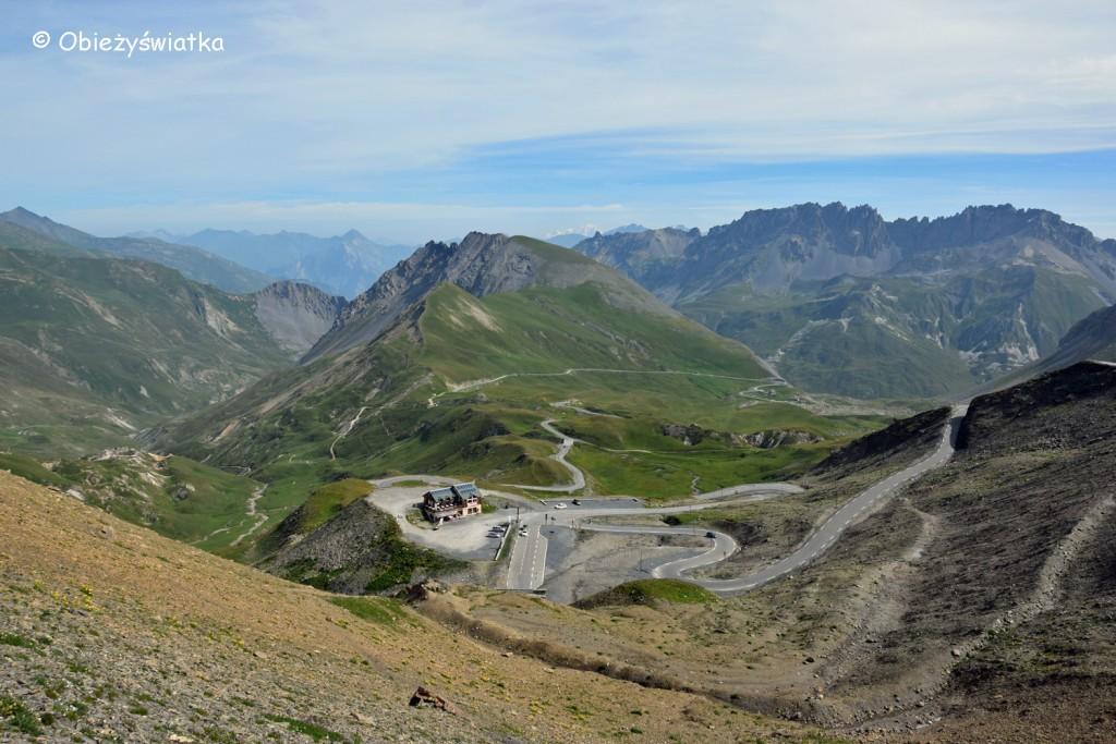 Widok z przełęczy Col du Galibier - 2642 m n.p.m., Alpy, Francja