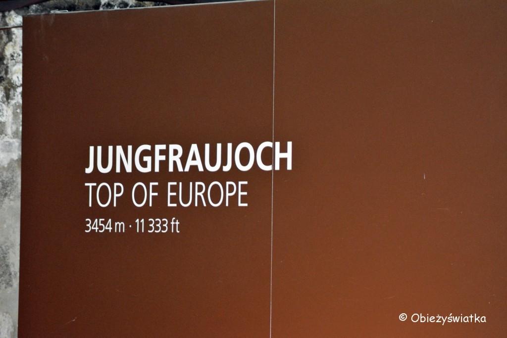 Jungfraujoch - stacja kolejki zębatej Jungfraubahn - 3454 m n.p.m.