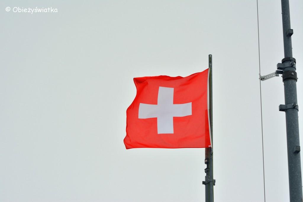 Nie może zabraknąć szwajcarskiej flagi