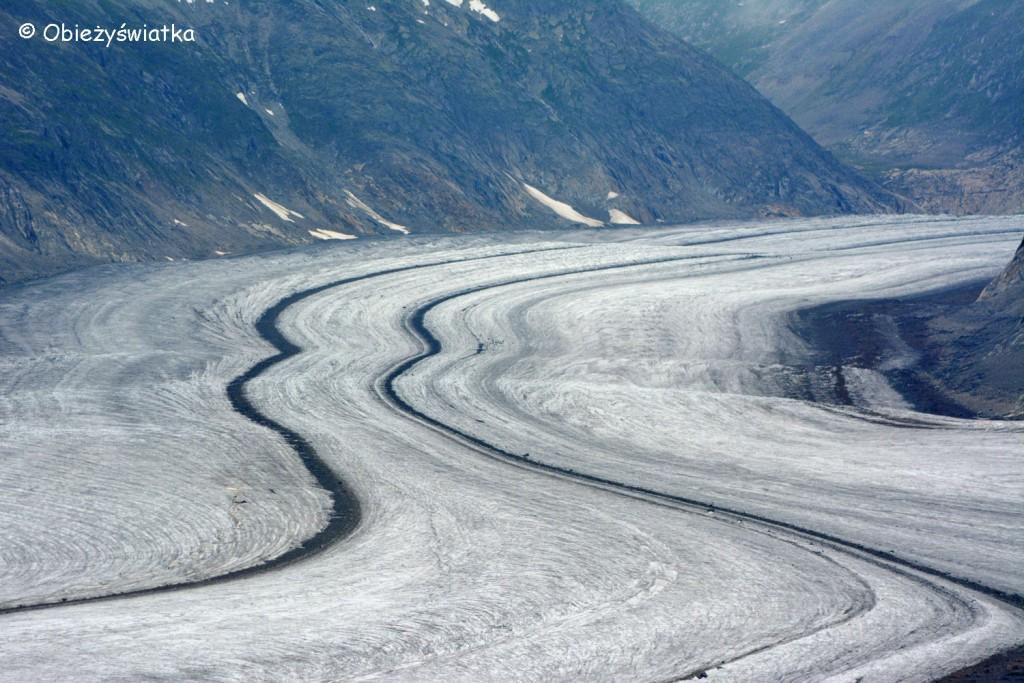Największy lodowiec Alp - Lodowiec Aletsch