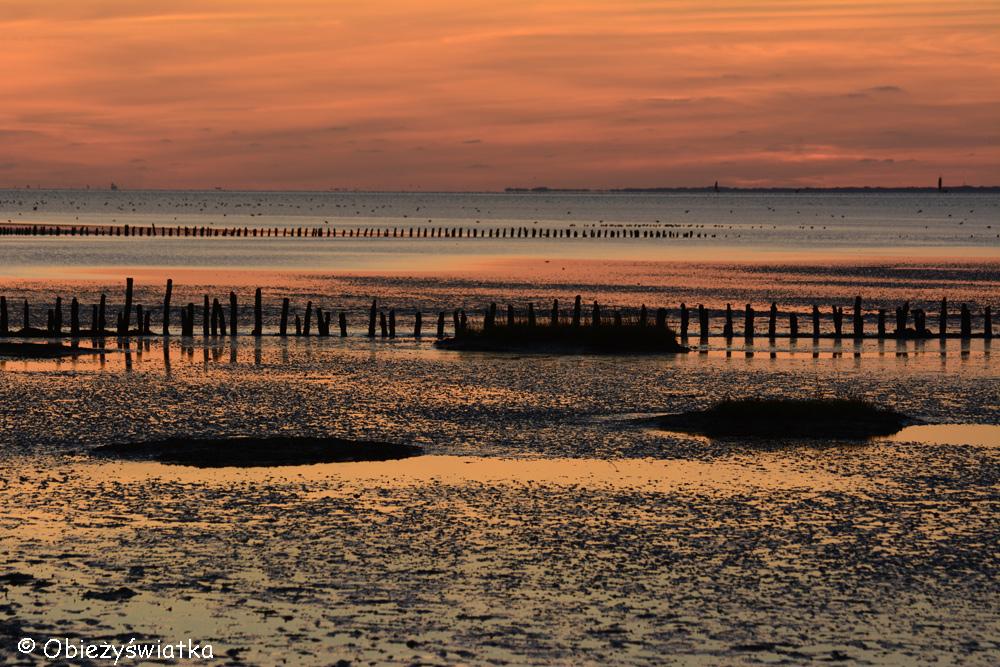 Zachód słońca nad Morzem Wattowym