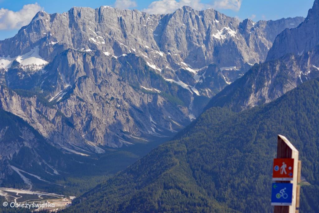 Alpy - widok z trójstyku słoweńsko-autriacko-włoskiego