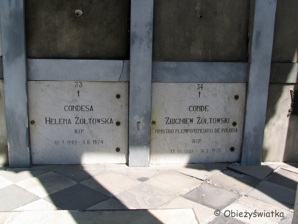 Polskie ślady na cmentarzu Recoleta w Buenos Aires