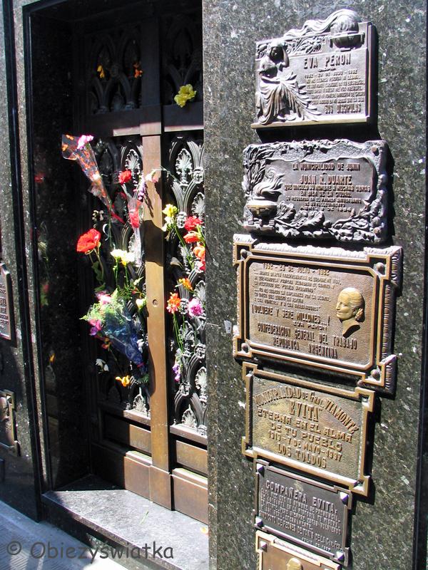 Grób Evity Peron, Cmentarz Recoleta w Buenos Aires