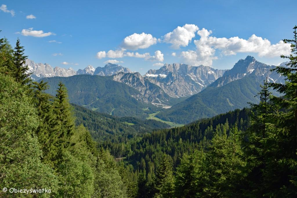 Alpy widziane ze szlaku na trójstyk