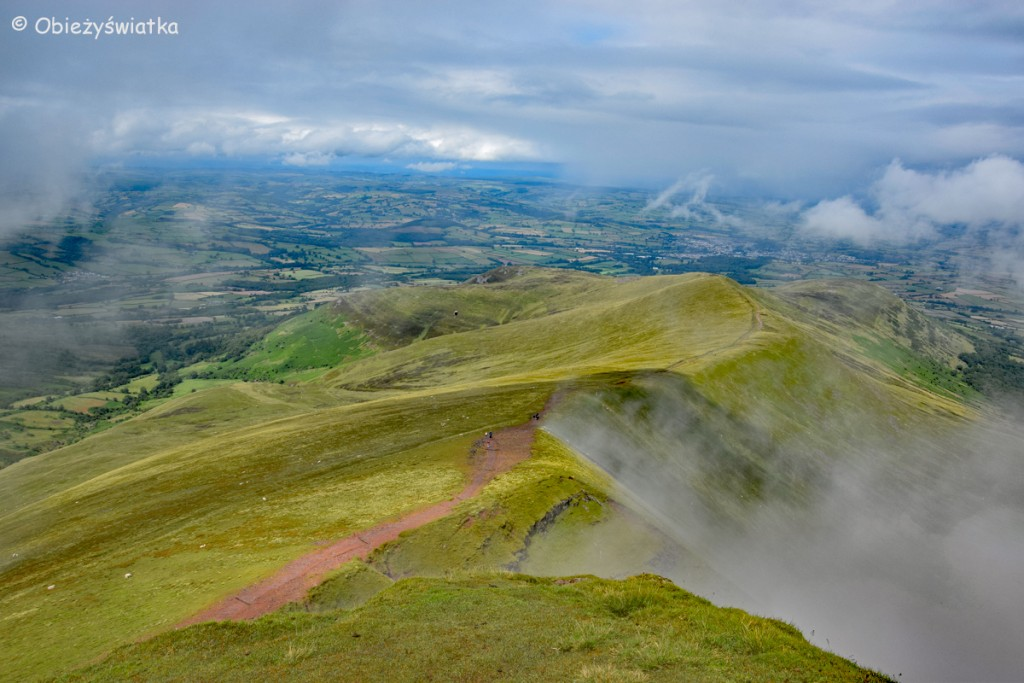 Widok z Pen Y Fan, Brecon Beacons, Walia