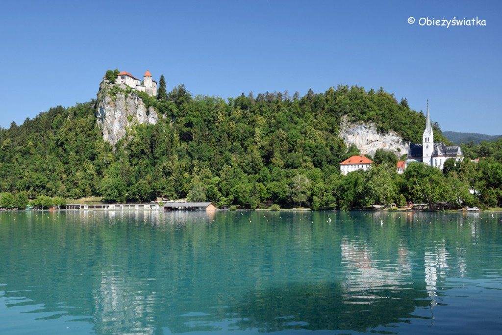 Jezioro i zamek Bled w Słowenii