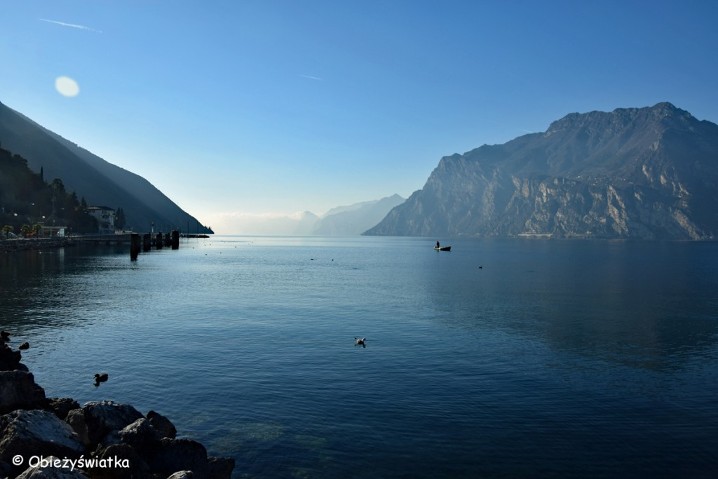 Jezioro Garda zimą