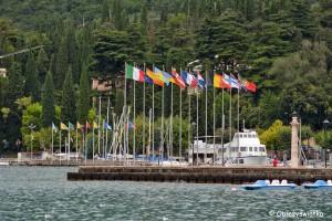 Widok na przystań - Jezioro Garda