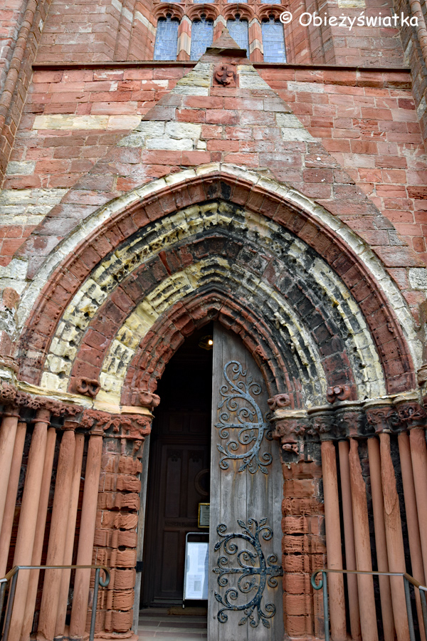 Główne wejście do Katedry św. Magnusa w Kirkwall, Orkady, Szkocja