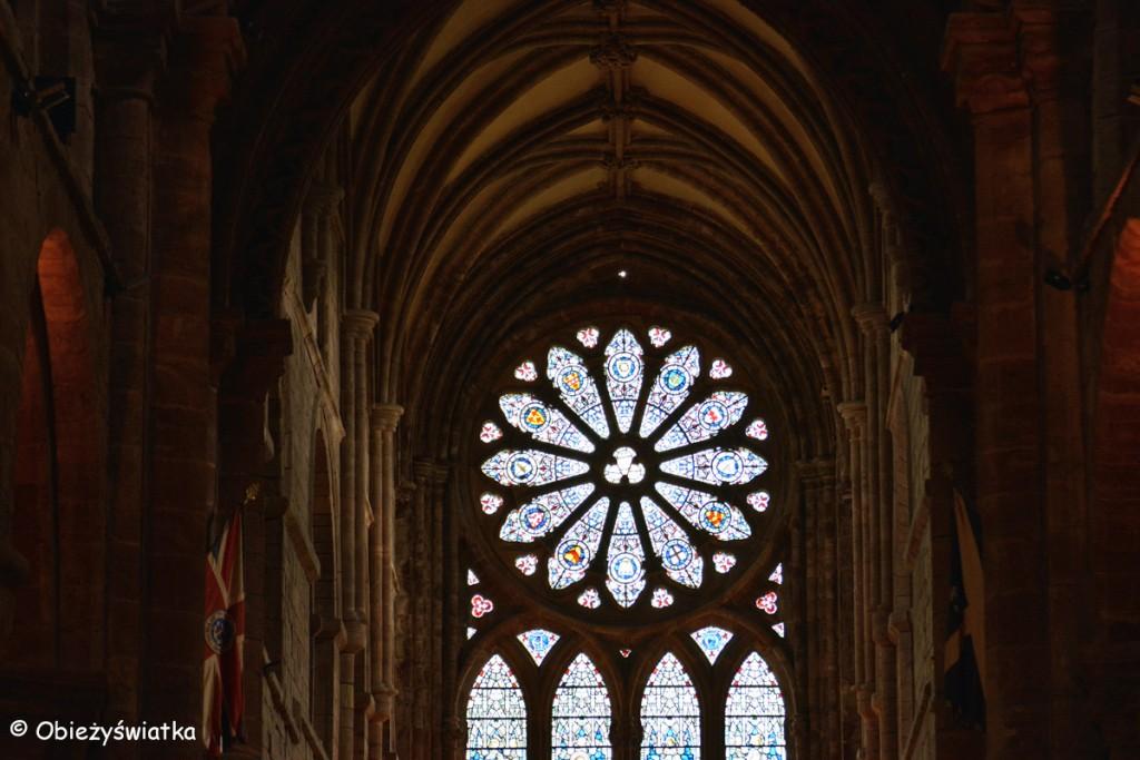 Rozeta - Katedra św. Magnusa w Kirkwall, Orkady, Szkocja