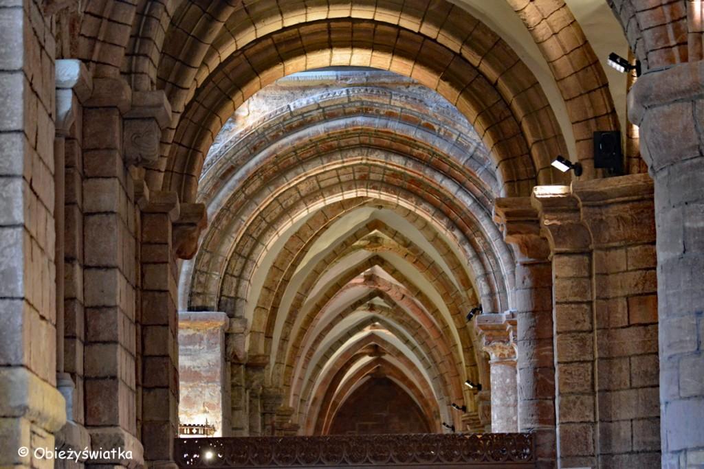 Sklepienia w nawie bocznej - Katedra św. Magnusa w Kirkwall, Orkady, Szkocja