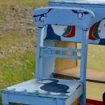 Unst Bus Shelter - wyposażenie przystanku na Wyspach Szetladzkich