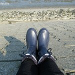 Moje czyste gumiaczki przed wejściem do Wattenmeer...
