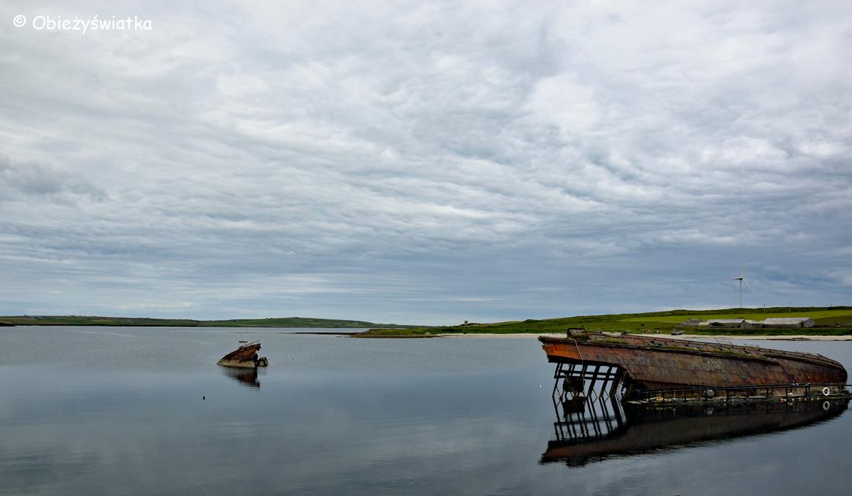 Wraki statków w zatoce Scapa Flow na Orkadach