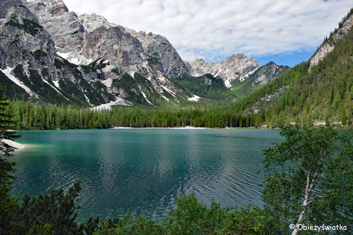 Góry, chmury i turkusowa woda...Pragser Wildsee / Lago di Braies, Tyrol Południowy