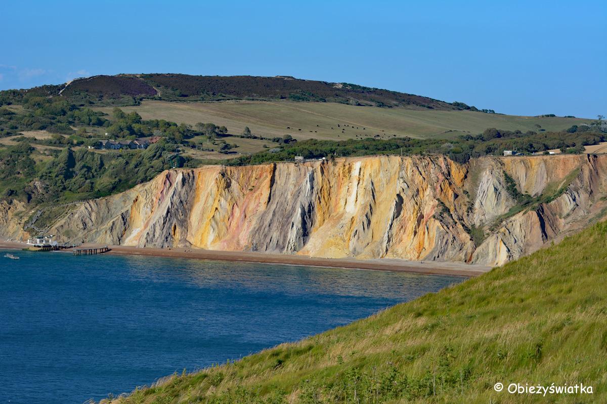 Kolorowe skały w Alum Bay, Isle of Wight