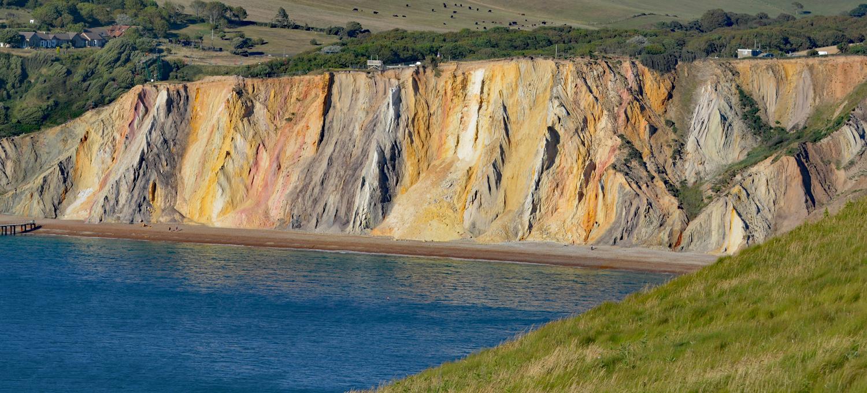 Kolorowe skały Alum Bay