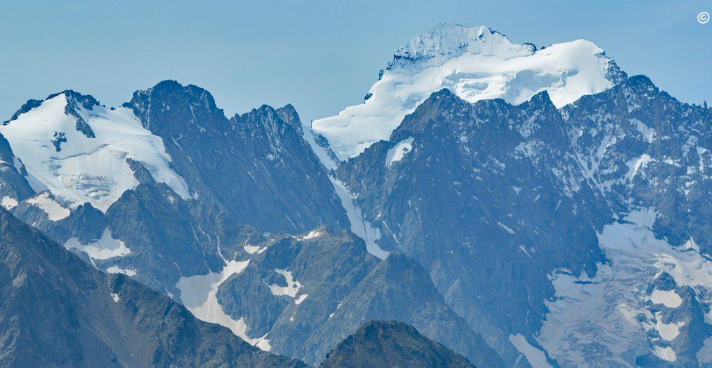 Widok z Col du Galibier, Francja