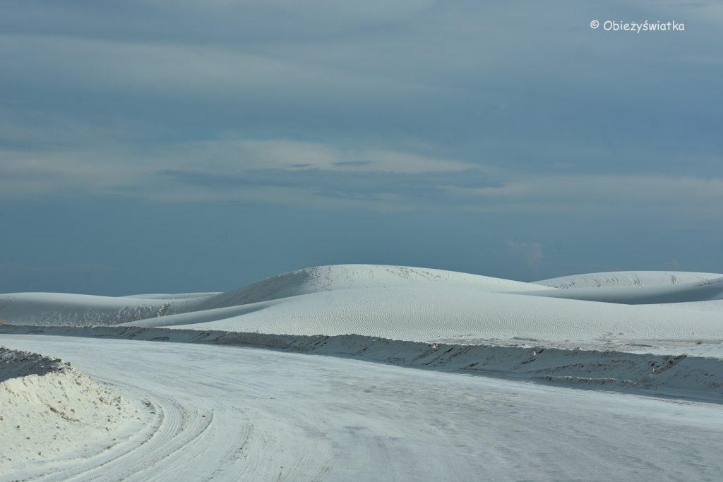 Droga dojazdowa, White Sands National Monument, USA