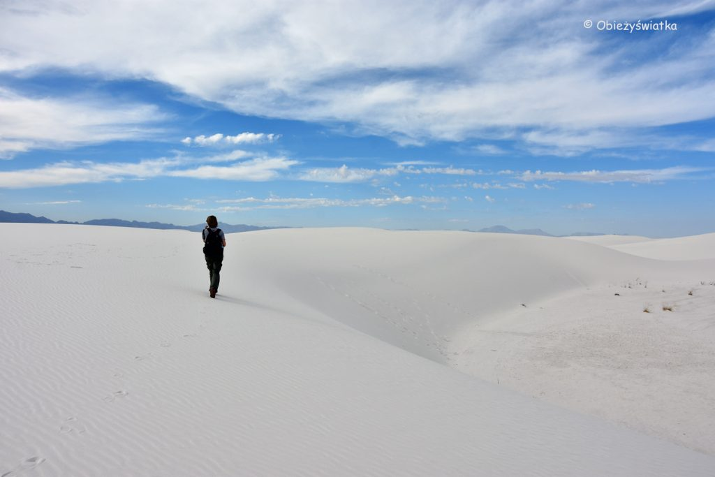 Na szlaku w parku, White Sands National Monument, USA