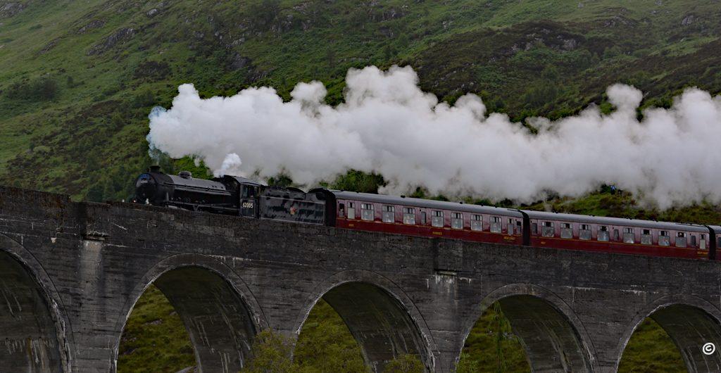 Pociąg czarodziejów w Glen Finnan