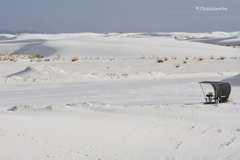 Śnieżnobiałe wydmy w White Sands National Monument, USA