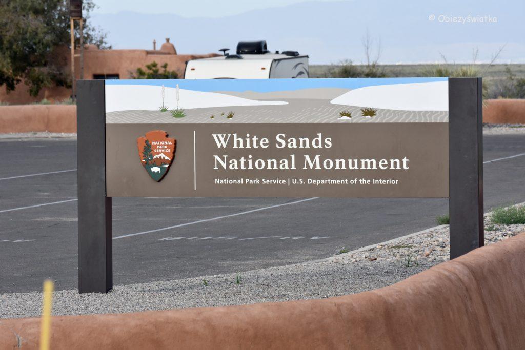 Wjazd do parku White Sands National Monument, USA
