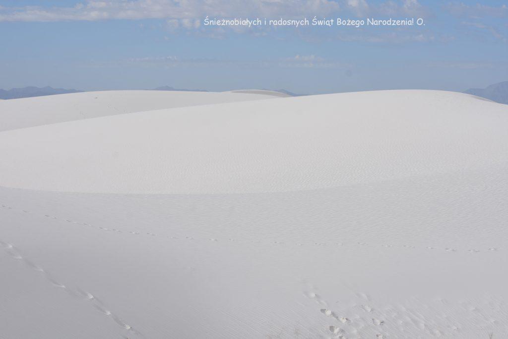 Życzenia świąteczne, White Sands National Monument, USA